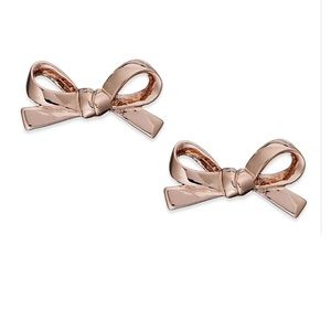 NWT Kate Spade Mini Bow Stud Earrings in Rose Gold